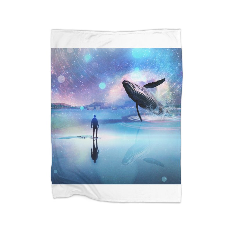 The Sound of Whales Home Fleece Blanket Blanket by Vin Zzep's Artist Shop