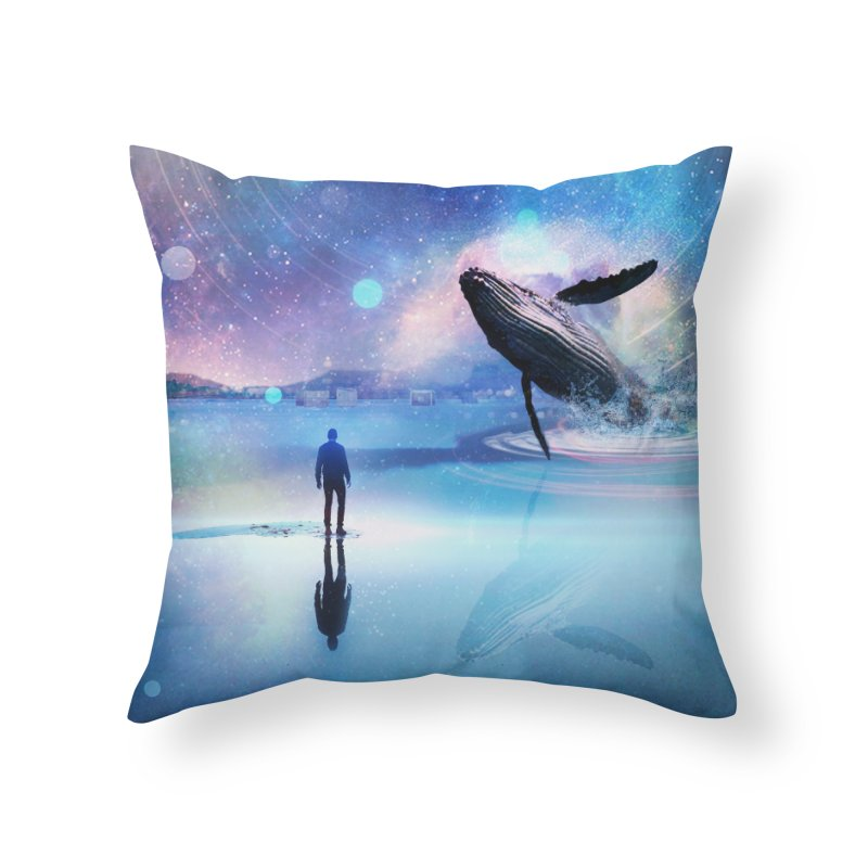 The Sound of Whales Home Throw Pillow by Vin Zzep's Artist Shop