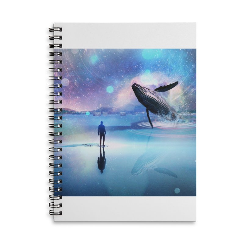 The Sound of Whales Accessories Lined Spiral Notebook by Vin Zzep's Artist Shop
