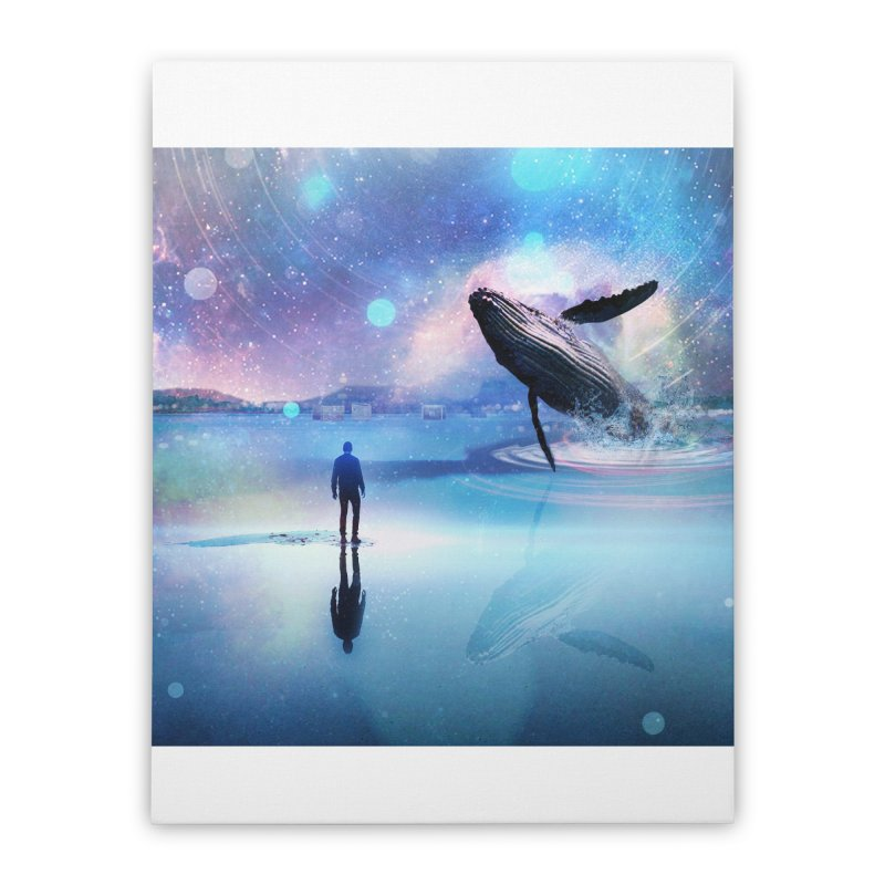 The Sound of Whales Home Stretched Canvas by Vin Zzep's Artist Shop