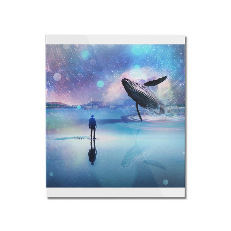 The Sound of Whales Home Mounted Acrylic Print by Vin Zzep's Artist Shop