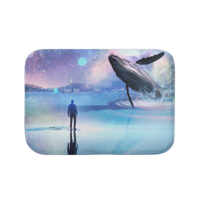 The Sound of Whales Home Bath Mat by Vin Zzep's Artist Shop