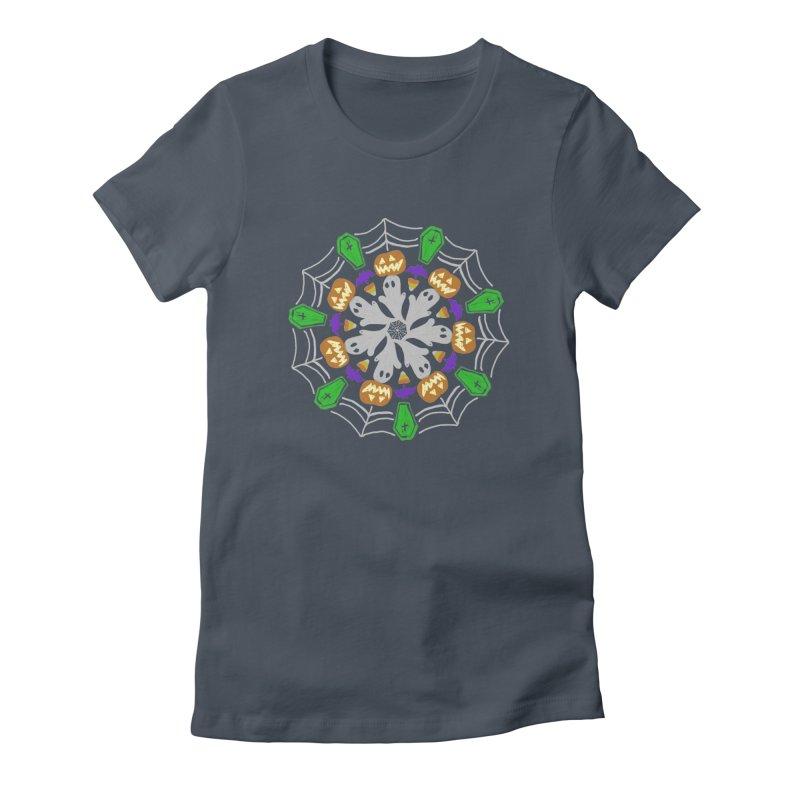 Ghost Haloween Mandala Women's T-Shirt by violetCreations's Artist Shop