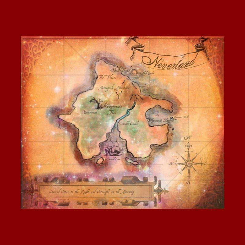 Never Land Map Home Duvet by violetCreations's Artist Shop