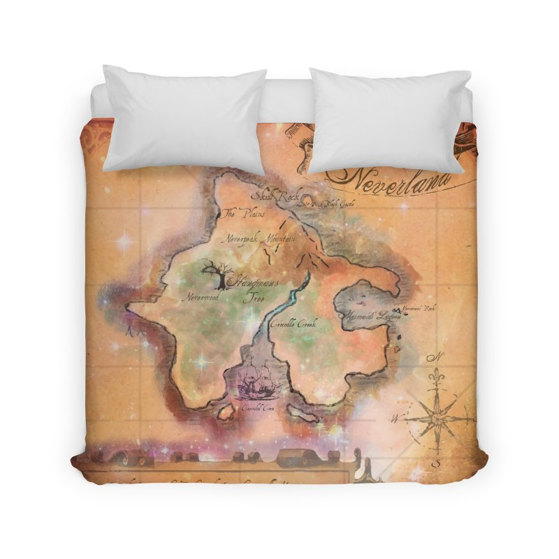 Never Land Map in Duvet by violetCreations's Artist Shop