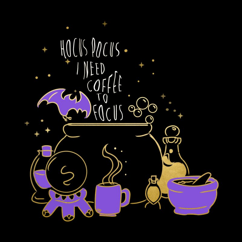 Hocus Pocus I need Coffee to Focus Men's T-Shirt by violetCreations's Artist Shop
