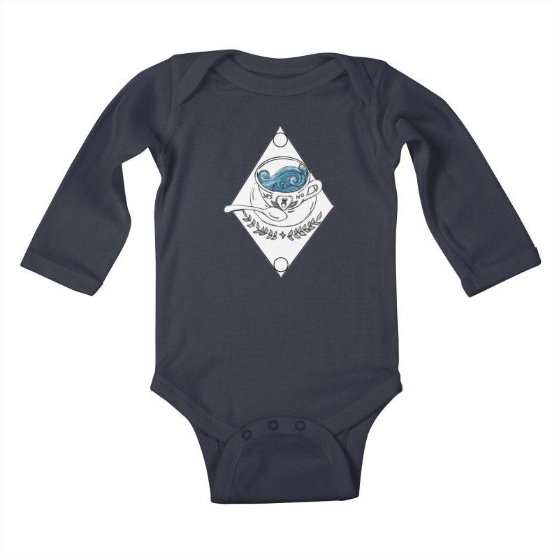 Sea Cup Kids Baby Longsleeve Bodysuit by violetCreations's Artist Shop