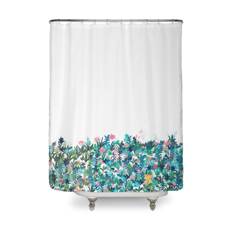 Fox's Garden Home Shower Curtain by violetCreations's Artist Shop