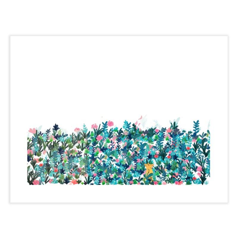 Fox's Garden Home Fine Art Print by violetCreations's Artist Shop