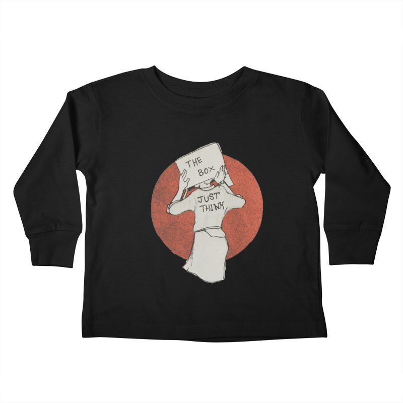 Just Think Kids Toddler Longsleeve T-Shirt by violetCreations's Artist Shop