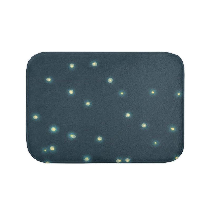 Fireflies Home Bath Mat by violetCreations's Artist Shop
