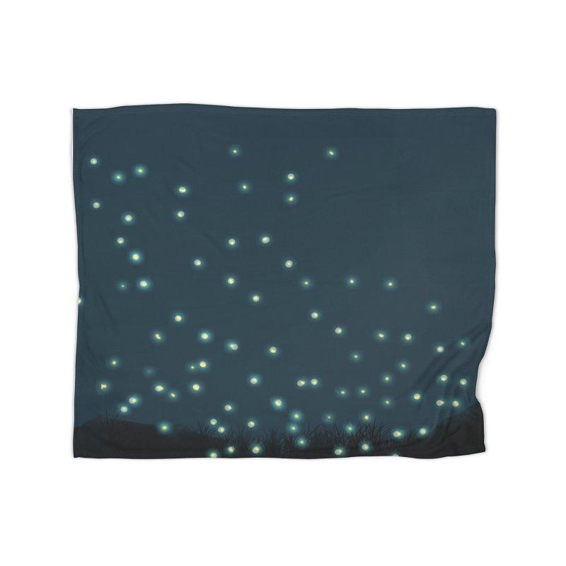 Fireflies Home Blanket by violetCreations's Artist Shop