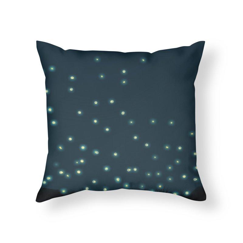 Fireflies Home Throw Pillow by violetCreations's Artist Shop