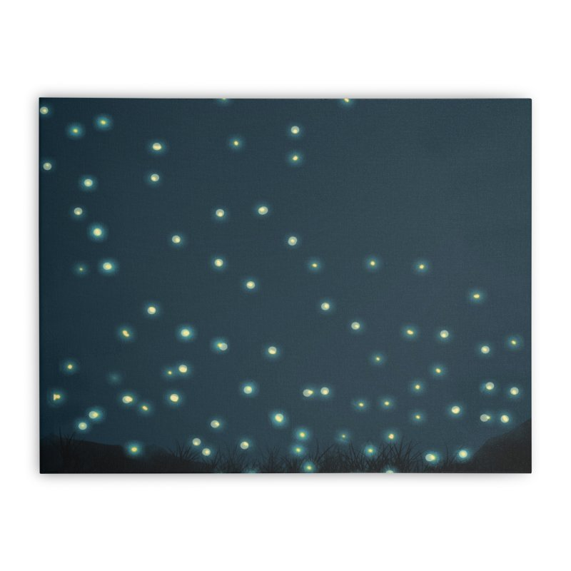 Fireflies Home Stretched Canvas by violetCreations's Artist Shop