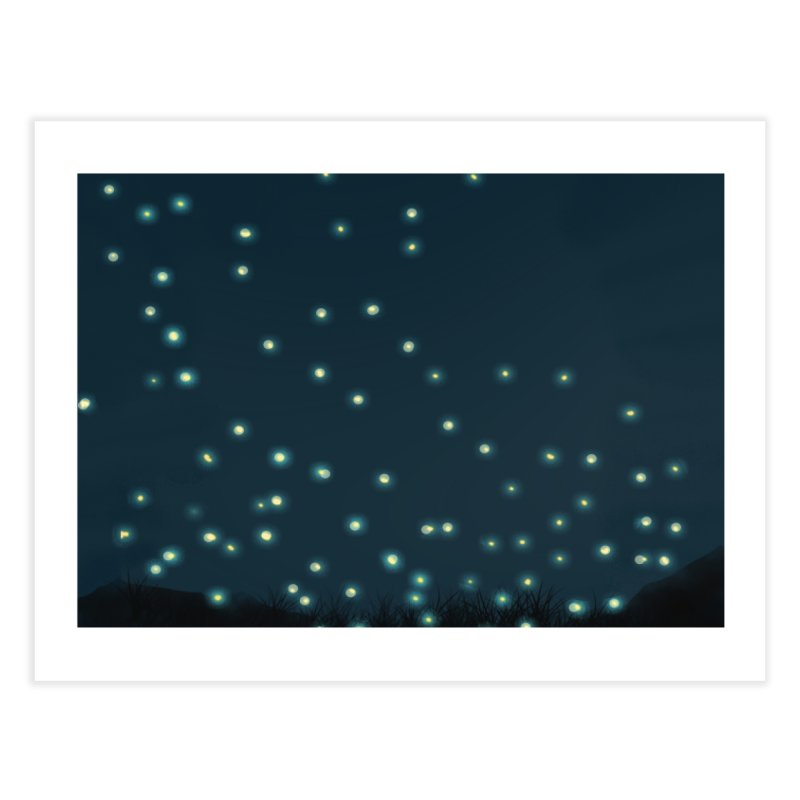 Fireflies Home Fine Art Print by violetCreations's Artist Shop