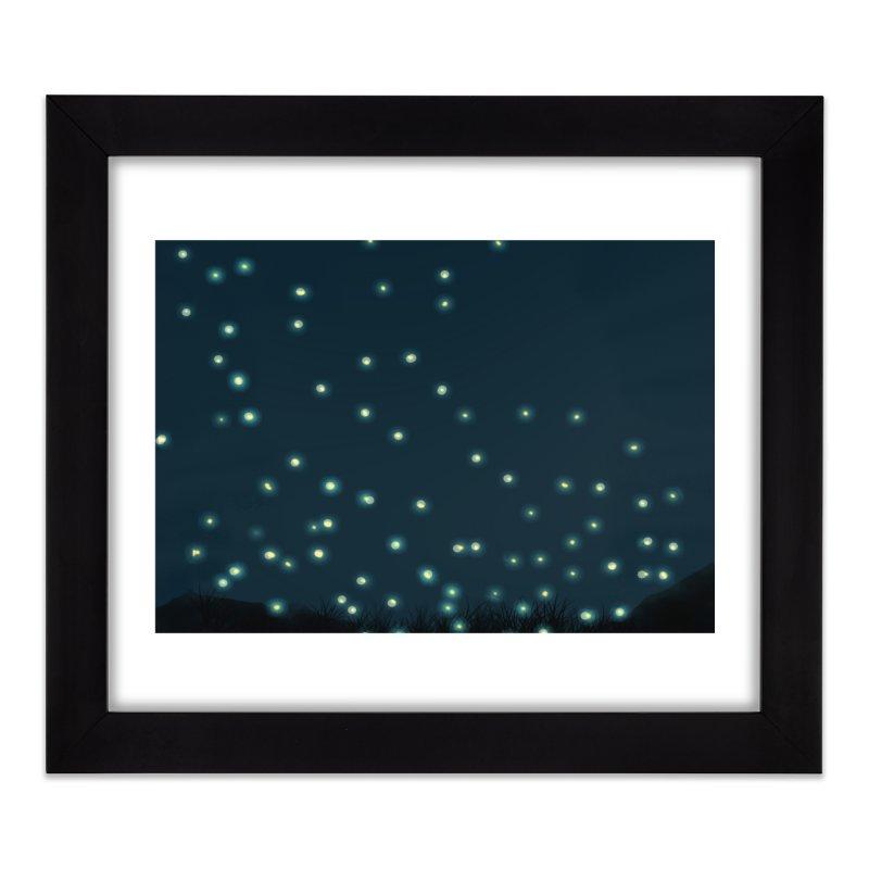 Fireflies Home Framed Fine Art Print by violetCreations's Artist Shop