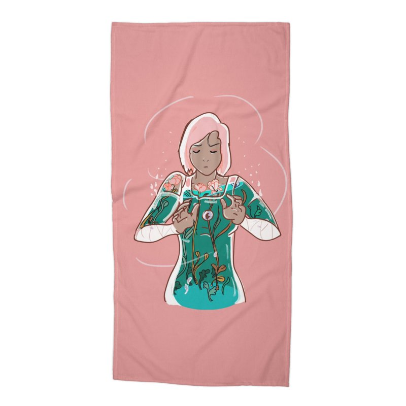 Healing of Korra Accessories Beach Towel by violetCreations's Artist Shop