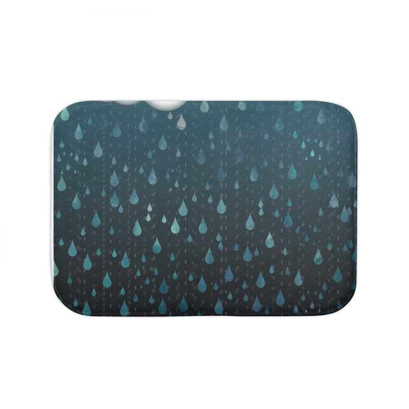 Rainy Day Home Bath Mat by violetCreations's Artist Shop
