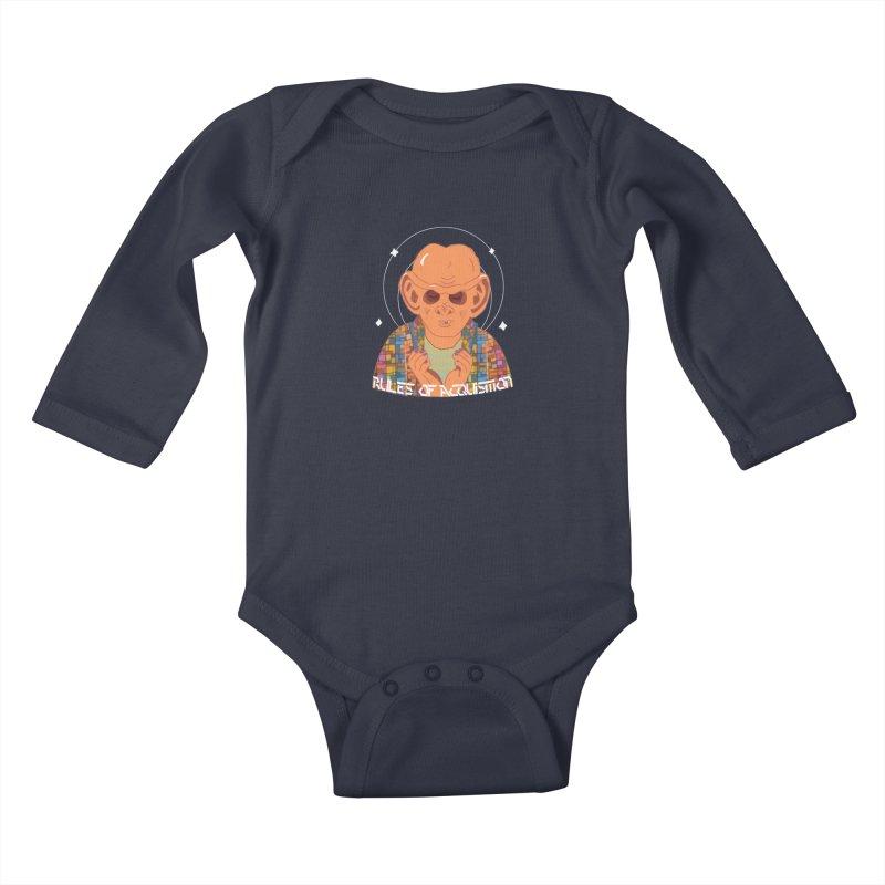 Quark's Rules Kids Baby Longsleeve Bodysuit by violetCreations's Artist Shop