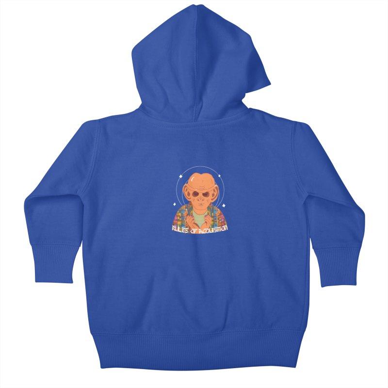 Quark's Rules Kids Baby Zip-Up Hoody by violetCreations's Artist Shop