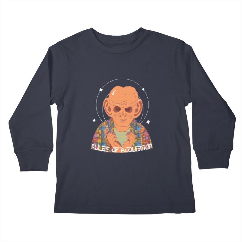Quark's Rules Kids Longsleeve T-Shirt by violetCreations's Artist Shop