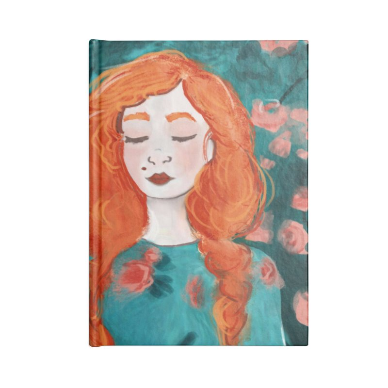 Rose Red Accessories Notebook by violetCreations's Artist Shop