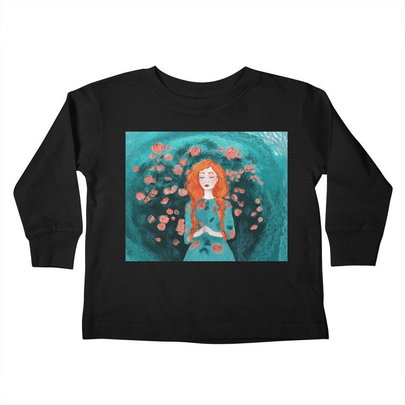 Rose Red Kids Toddler Longsleeve T-Shirt by violetCreations's Artist Shop