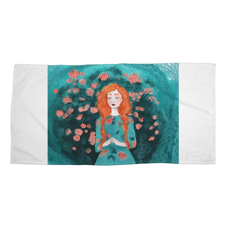 Rose Red Accessories Beach Towel by violetCreations's Artist Shop