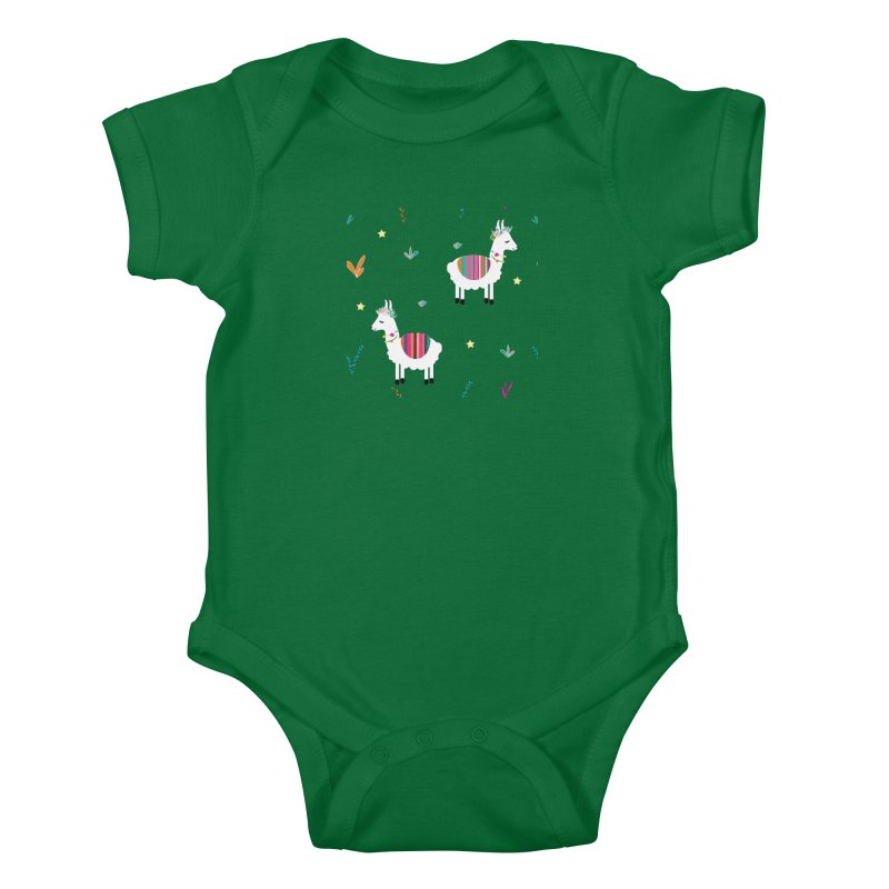 Alpaca-corn Clothes Kids Baby Bodysuit by violetCreations's Artist Shop