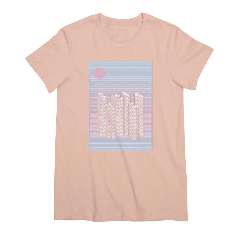Chicago City Minimal Skyline Women's Premium T-Shirt by virbia's Artist Shop