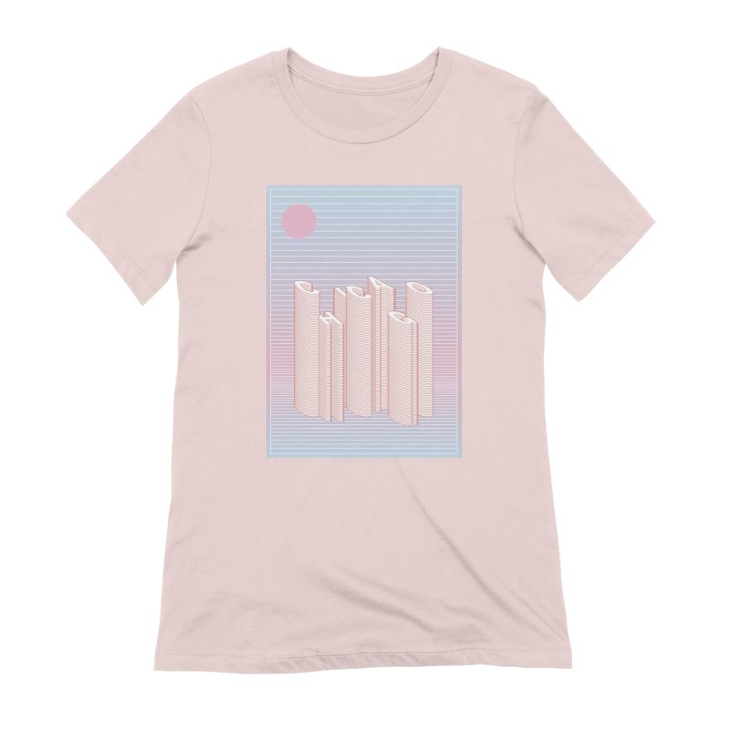 Chicago City Minimal Skyline Women's Extra Soft T-Shirt by virbia's Artist Shop