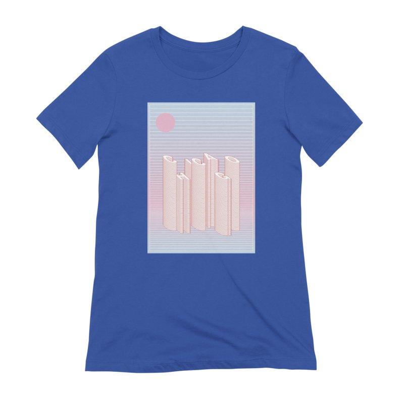 Chicago City Minimal Skyline Women's Extra Soft T-Shirt by virbia's Artist Shop