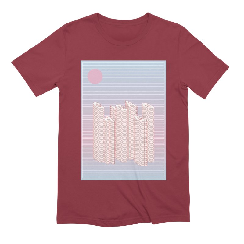Chicago City Minimal Skyline Men's Extra Soft T-Shirt by virbia's Artist Shop