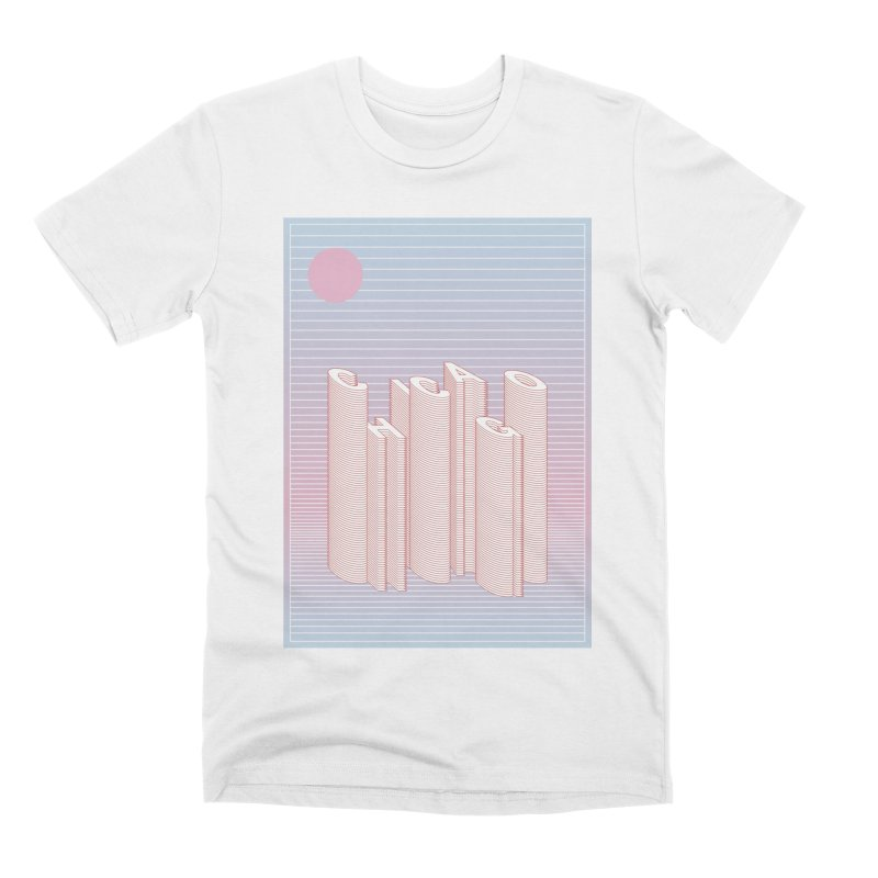 Chicago City Minimal Skyline Men's Premium T-Shirt by virbia's Artist Shop
