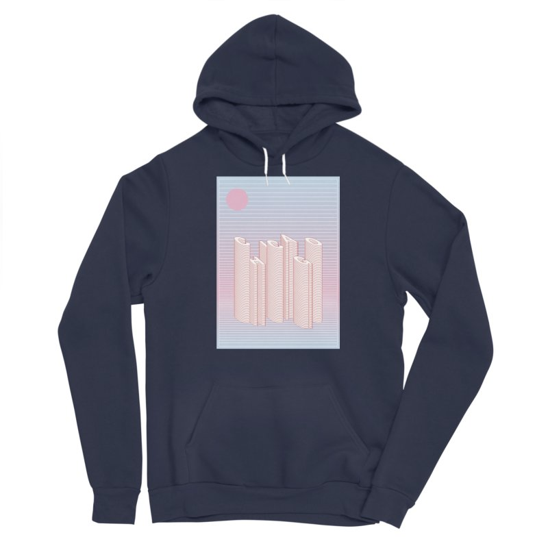 Chicago City Minimal Skyline Women's Sponge Fleece Pullover Hoody by virbia's Artist Shop
