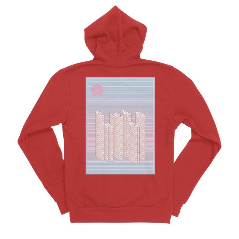 Chicago City Minimal Skyline Women's Sponge Fleece Zip-Up Hoody by virbia's Artist Shop