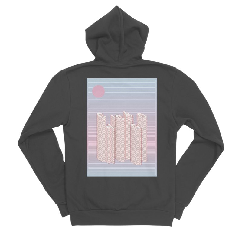 Chicago City Minimal Skyline Women's Sponge Fleece Zip-Up Hoody by virbia's Artist Shop