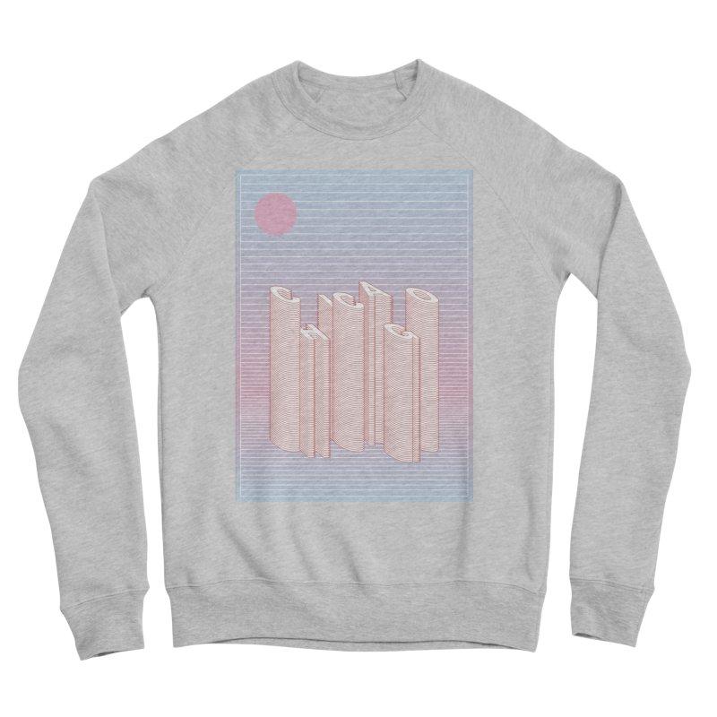 Chicago City Minimal Skyline Women's Sponge Fleece Sweatshirt by virbia's Artist Shop