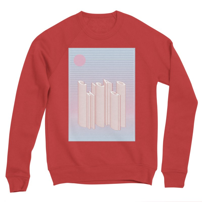 Chicago City Minimal Skyline Women's Sponge Fleece Sweatshirt by virbia's Artist Shop