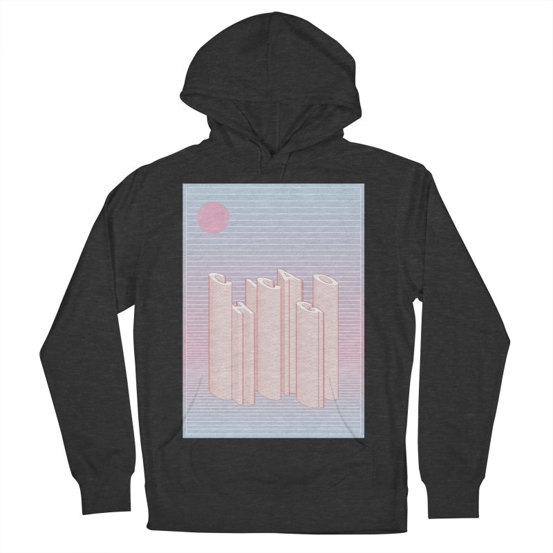 Chicago City Minimal Skyline Women's French Terry Pullover Hoody by virbia's Artist Shop