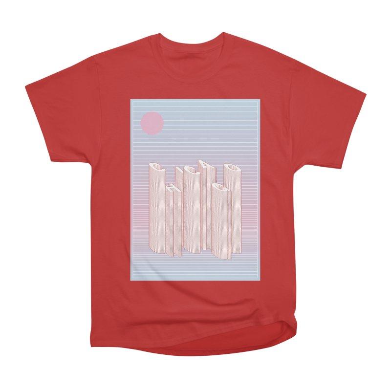 Chicago City Minimal Skyline Men's Heavyweight T-Shirt by virbia's Artist Shop