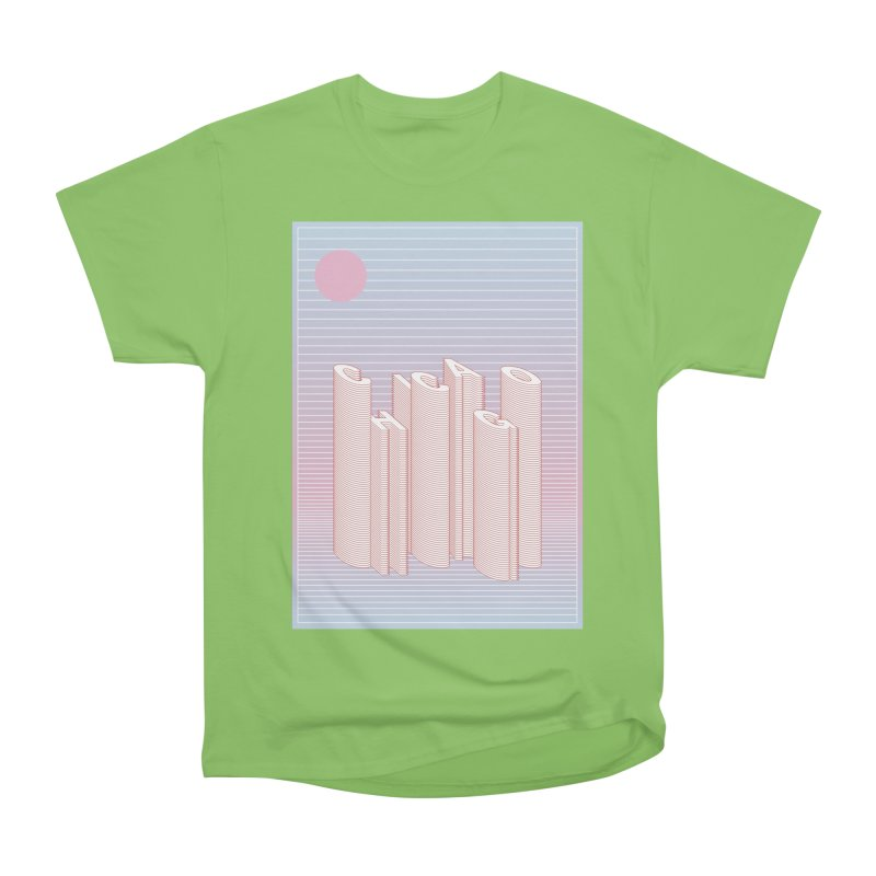 Chicago City Minimal Skyline Women's Heavyweight Unisex T-Shirt by virbia's Artist Shop