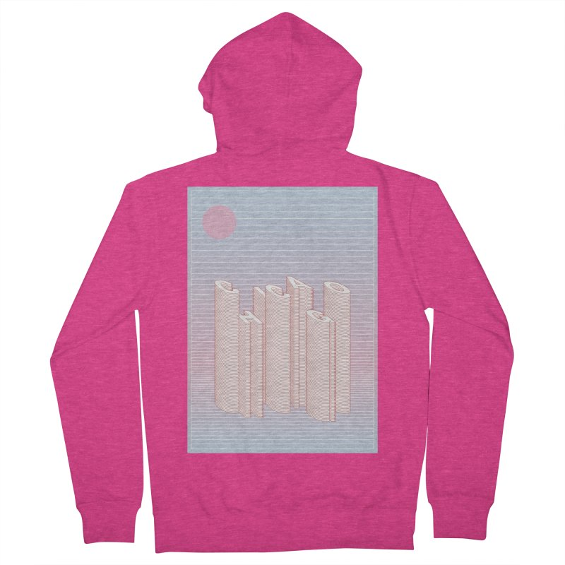 Chicago City Minimal Skyline Women's French Terry Zip-Up Hoody by virbia's Artist Shop