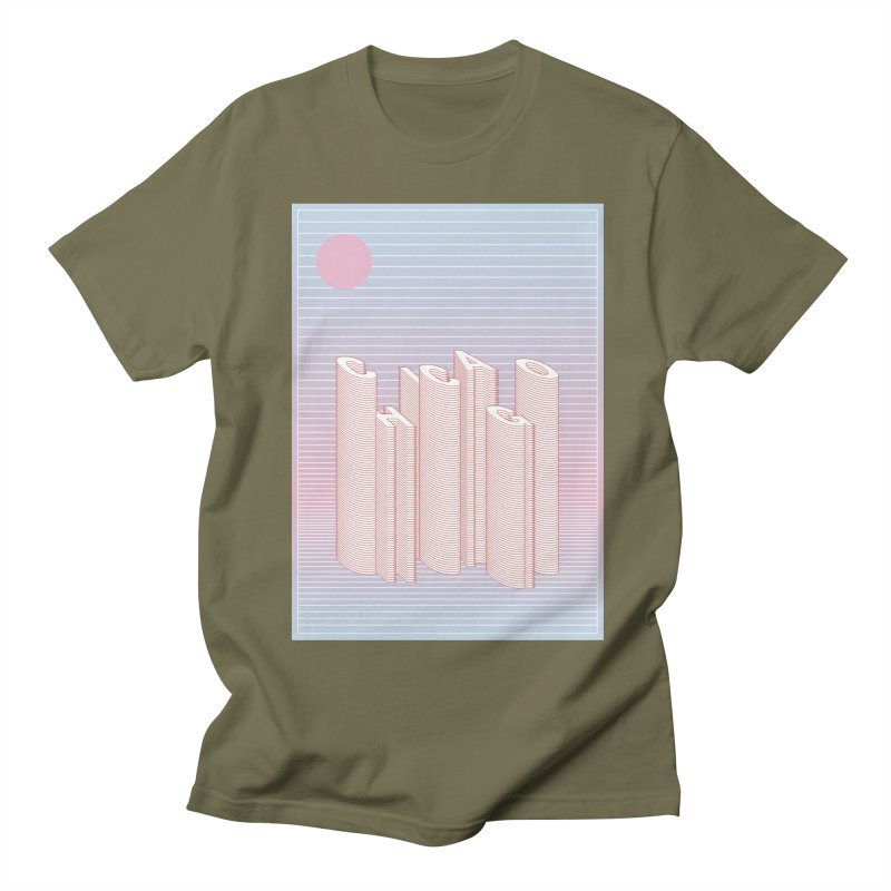 Chicago City Minimal Skyline Men's T-Shirt by virbia's Artist Shop