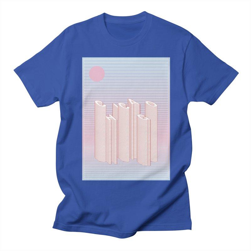 Chicago City Minimal Skyline Men's T-Shirt by virbia's Artist Shop