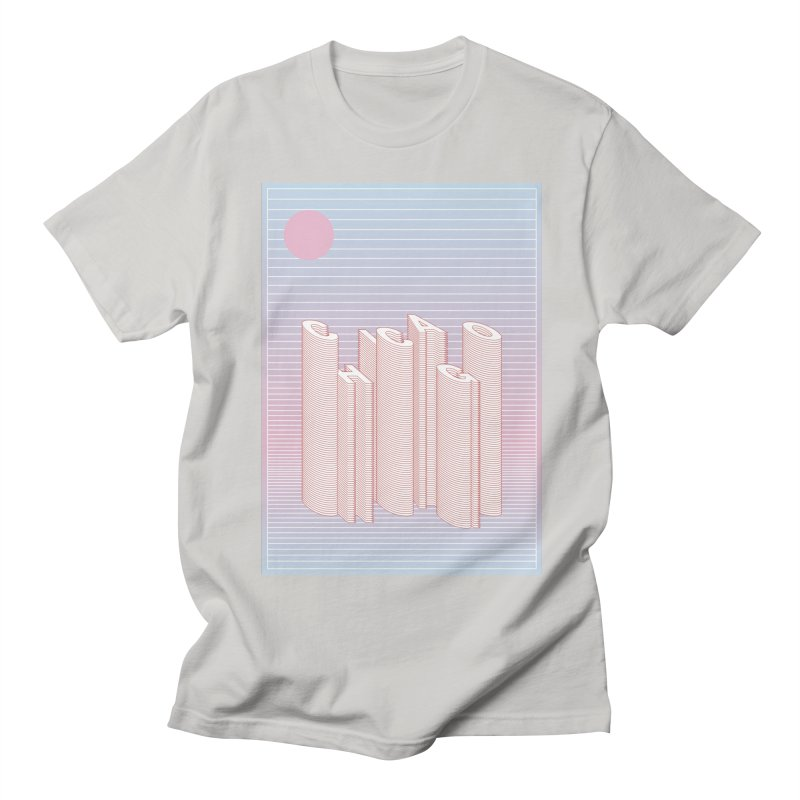 Chicago City Minimal Skyline Men's Regular T-Shirt by virbia's Artist Shop