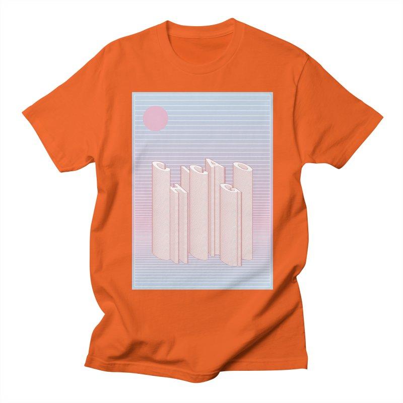 Chicago City Minimal Skyline Men's Regular T-Shirt by virbia's Artist Shop