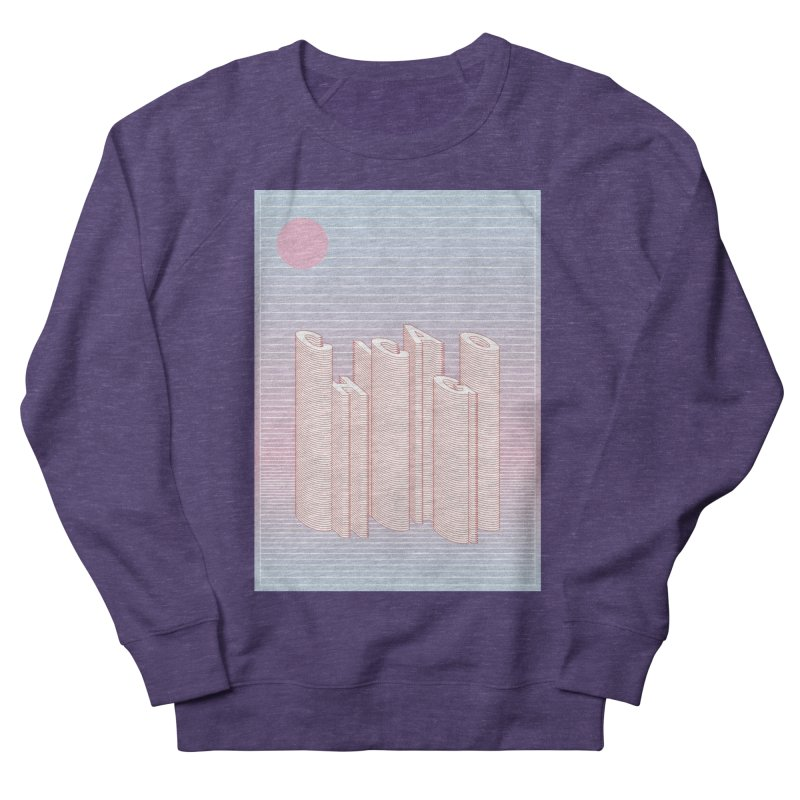 Chicago City Minimal Skyline Women's French Terry Sweatshirt by virbia's Artist Shop