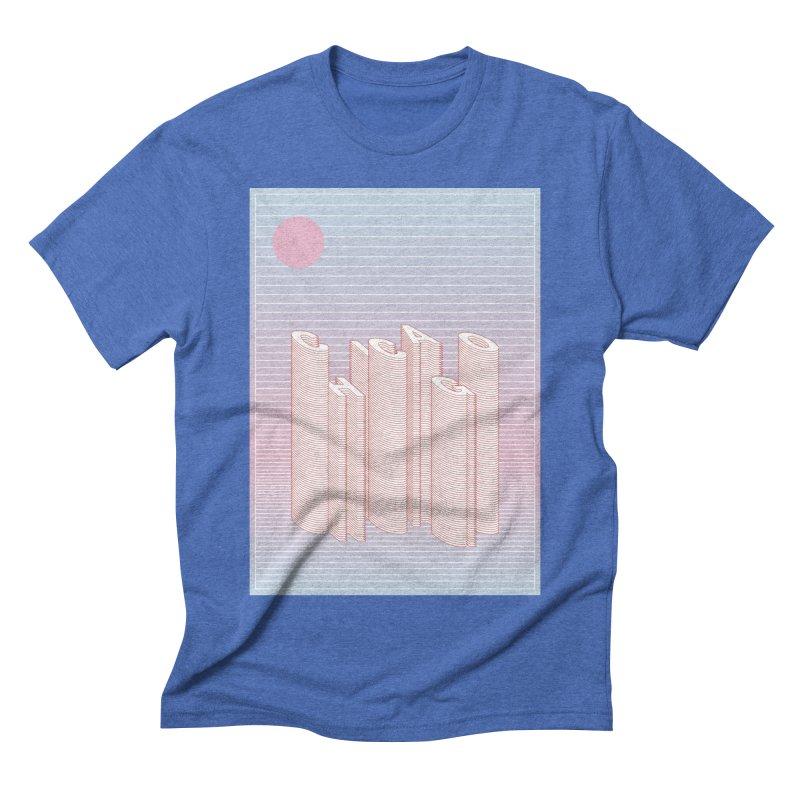 Chicago City Minimal Skyline Men's Triblend T-Shirt by virbia's Artist Shop