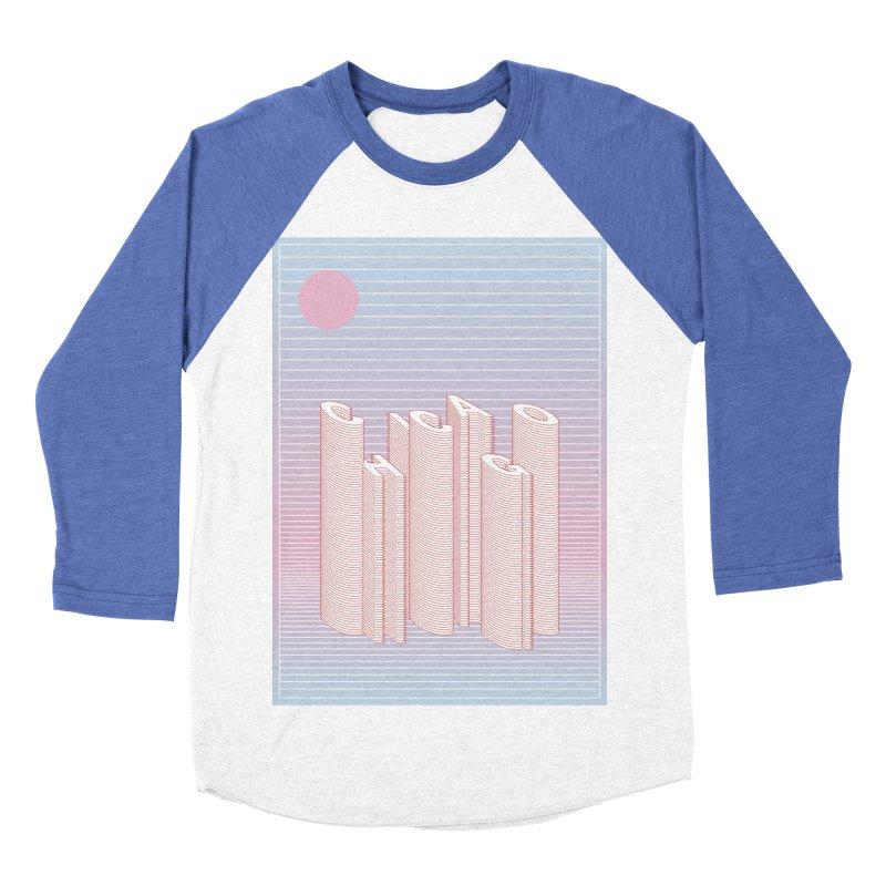 Chicago City Minimal Skyline Women's Baseball Triblend Longsleeve T-Shirt by virbia's Artist Shop